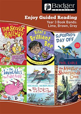 Enjoy Guided Reading KS2 Book Bands: Year 3 Lime, Brown & Grey Teacher Book & CD Badger Learning