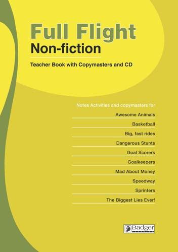 Full Flight Non-fiction Teacher Book + CD Badger Learning