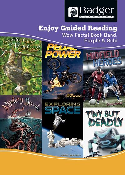 Enjoy Guided Reading Non-Fiction Purple and Gold Level Teacher Book + CD Badger Learning