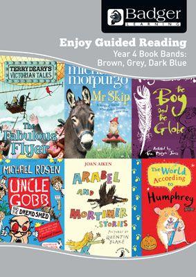 Enjoy Guided Reading KS2 Book Bands: Year 4 Brown, Grey & Dark Blue Teacher Book & CD Badger Learning