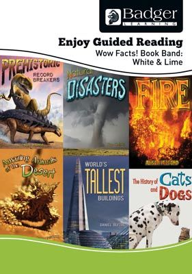 Enjoy Guided Reading Non-Fiction White and Lime Level Teacher Book + CD Badger Learning