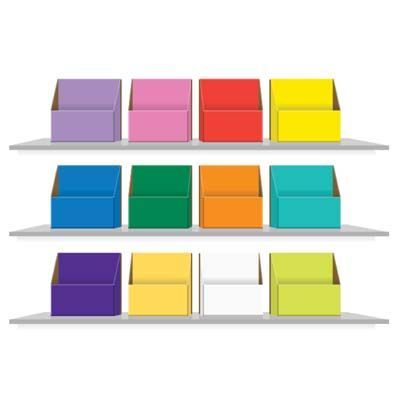 Colour Coded Storage Boxes for KS1 Book Bands