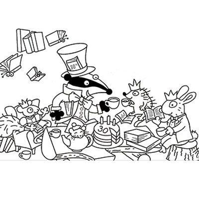 Badger Learning 30th Birthday Colouring Sheet