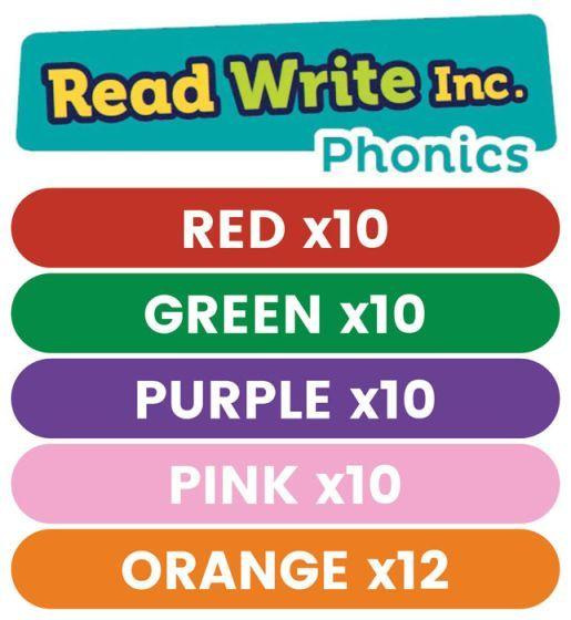 Read Write Inc. Phonics Book Bag Books: Red to Orange Pack of 52