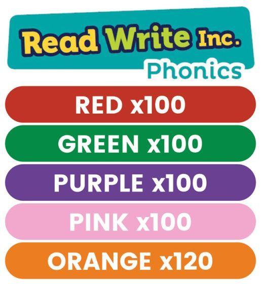 Read Write Inc. Phonics Book Bag Books: Red to Orange Pack of 520