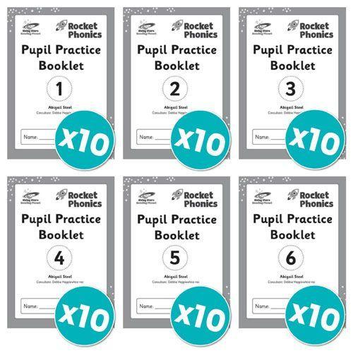 Rocket Phonics Pupil Practice Books 1-6 x 10 copies