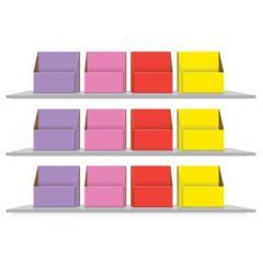Colour Coded Storage Boxes for Reception Book Bands