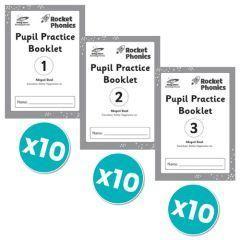 Rocket Phonics Pupil Practice Books 1-3 x 10 copies