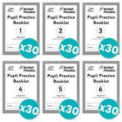 Rocket Phonics Pupil Practice Books 1-6 x 30 copies