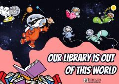 Downloadable Poster - Our Library is Out of this World