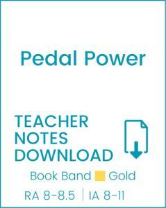 Enjoy Guided Reading: Pedal Power Teacher Notes