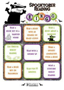 Spooktober Reading Bingo - Mini Version