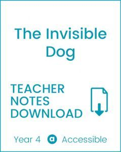 Enjoy Guided Reading: The Invisible Dog Teacher Notes
