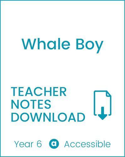 Enjoy Guided Reading: Whale Boy Teacher Notes