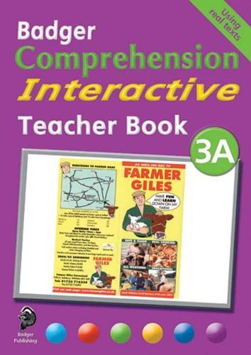 Badger Comprehension Interactive: Teacher Book 3A