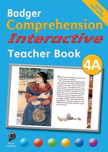 Badger Comprehension Interactive: Teacher Book 4A