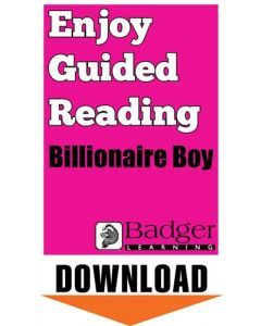 Enjoy Guided Reading: Billionaire Boy Teacher Notes