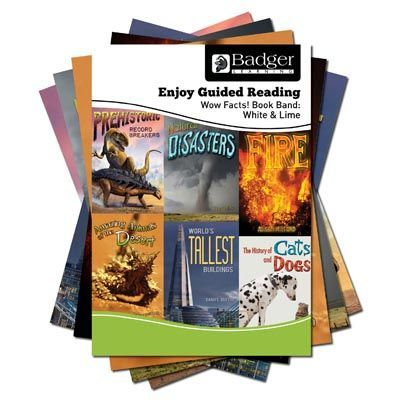 Enjoy Guided Reading Non-Fiction White and Lime Book Band