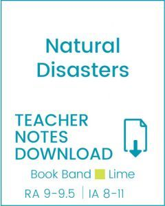 Enjoy Guided Reading: Natural Disasters Teacher Notes