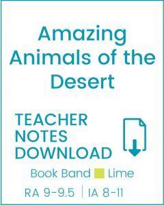 Enjoy Guided Reading: Amazing Animals of the Desert Teacher Notes