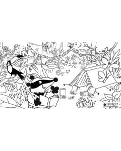Badger Learning Rainforest Colouring Sheet