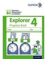 Numicon Geometry, Measurement and Statistics 4 Explorer Progress Book — Pack of 30