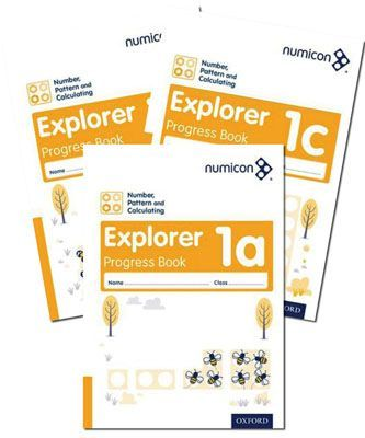 Numicon Number, Pattern and Calculating 1 Explorer Progress Books — Pack of 90