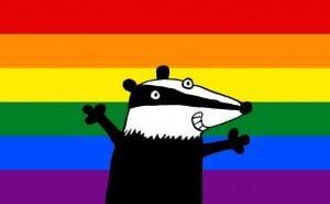 Badger + Flag