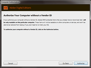 Authorise Your Computer with no Adobe ID- Adobe Editions
