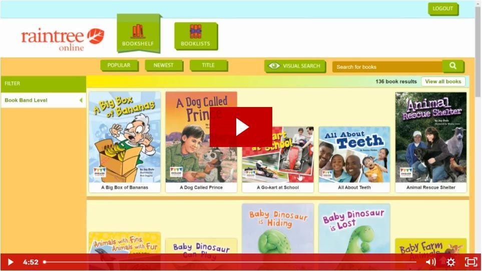 Engage Literacy Online (via Raintree Online) - Pupil View